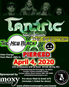 Tantric is April 4th 2020